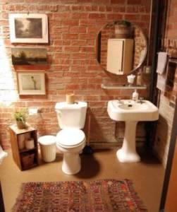 плитка под кирпич в ванной комнате